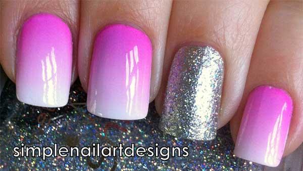 Manicure Ombre con purpurina